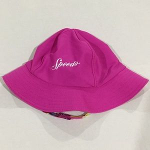 Speedo pink swimming hat